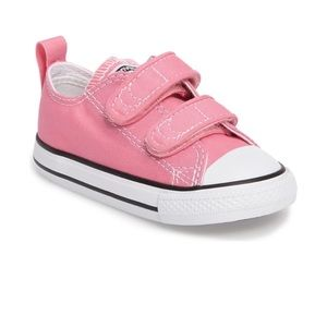 Pink Converse Velcro Sneakers